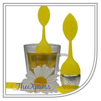 Tea infuser Floating Leaf Yellow